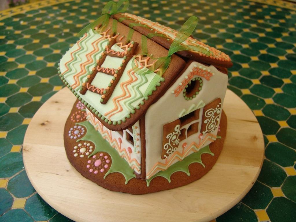 Как сделать пряничный домик в домашних 527